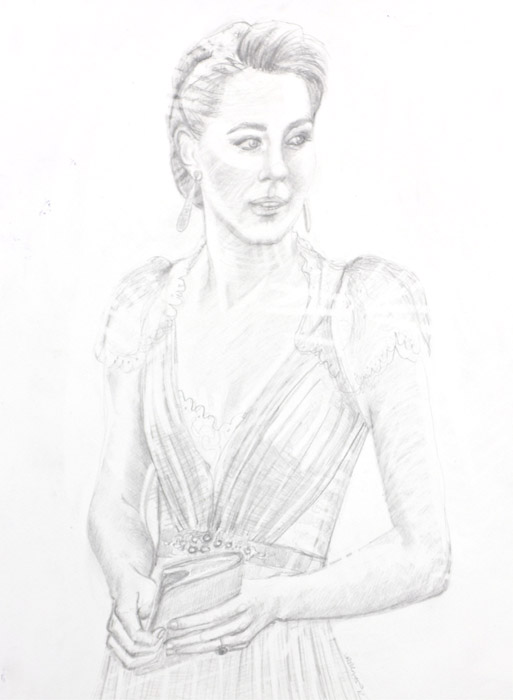 Pencil Kate in Jenny Packham Gown