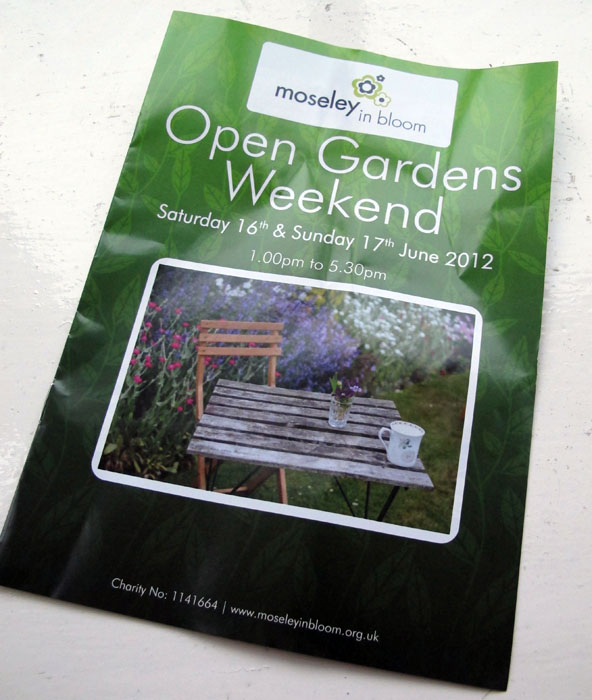 Moseley Open Gardens Flyer